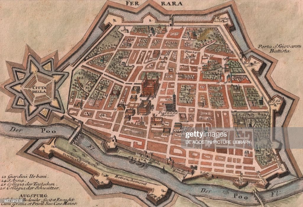 Map Of Ferrara Pictures Getty Images - Ferrara map