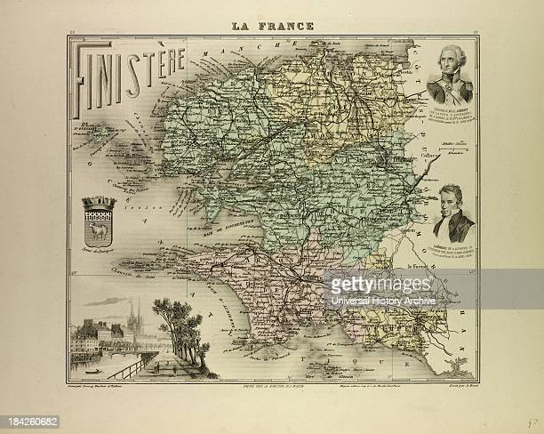 Map Of Finistiore France