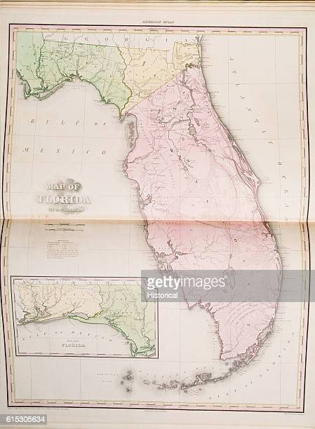 Map Of Florida U S A Stock Photos And Pictures Getty Images - 1823 us map
