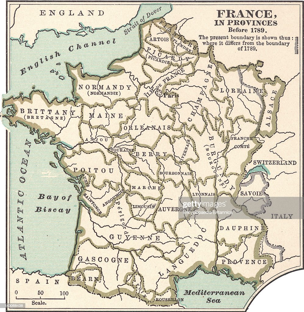 Map of france in provinces pictures getty images map of france in provinces map of the provinces of france before the french revolution gumiabroncs Choice Image