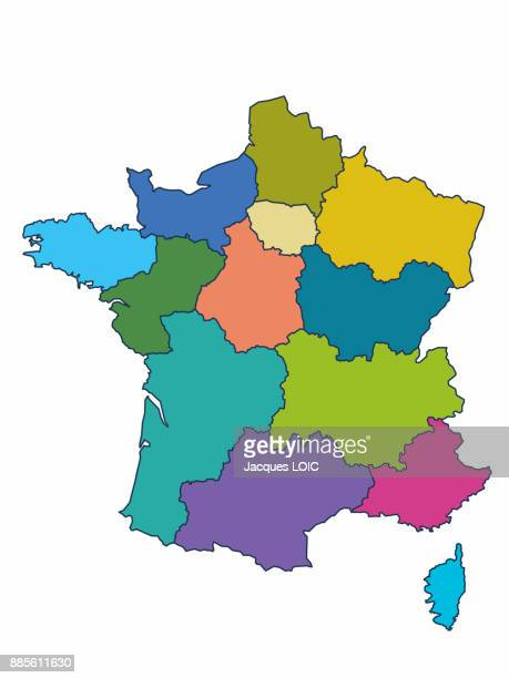 Map of France with the 13 regions, adopted by the Assemblee Nationale (19th-20th November 2014)
