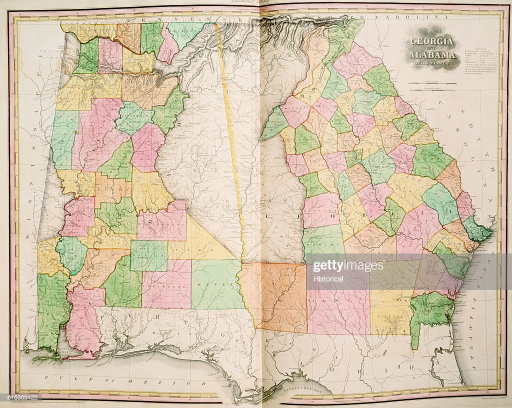 A map of Georgia and Alabama in 1823, prior to the Indian ... Indian Map Of Alabama on map missouri indians, map of alabama national forests, map nebraska indians, early alabama indians, map of alabama railroads, map of alabama in water, map of alabama forts, map kansas indians, map maryland indians, alabama history indians, map indiana indians,