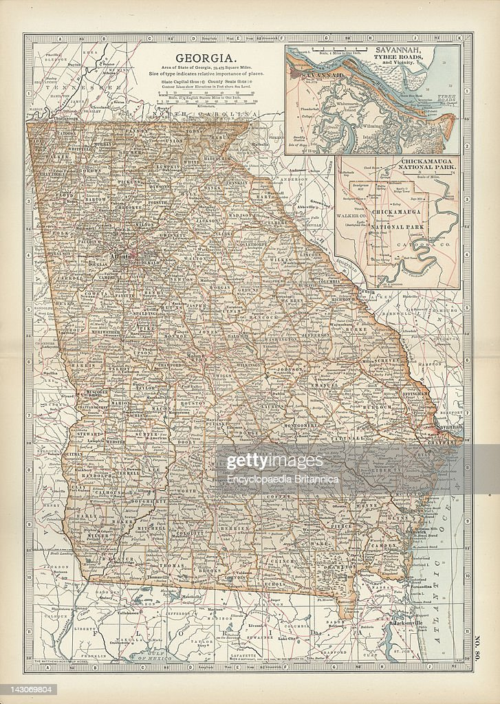 Map Of Georgia Pictures Getty Images