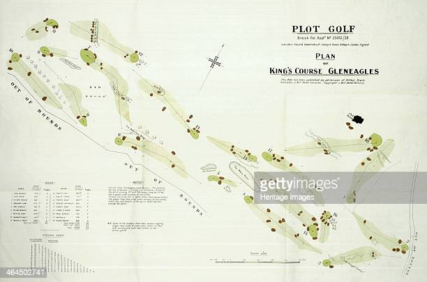 Map of Gleneagles golf course c1920s