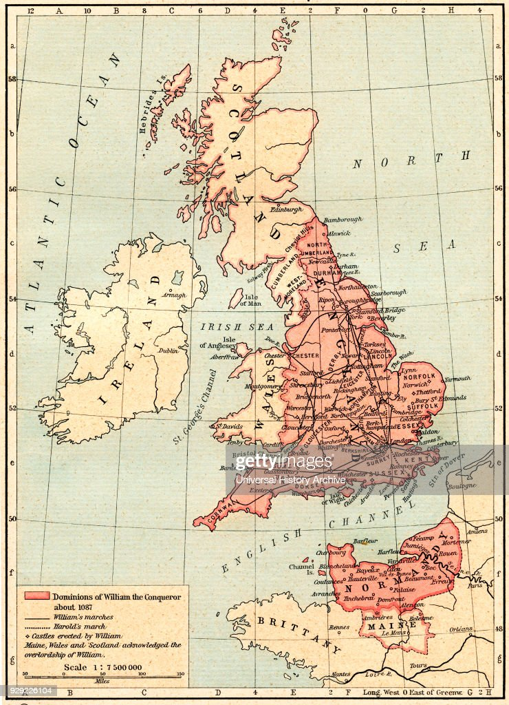 Map of Great Britain showing the dominions of William the ...