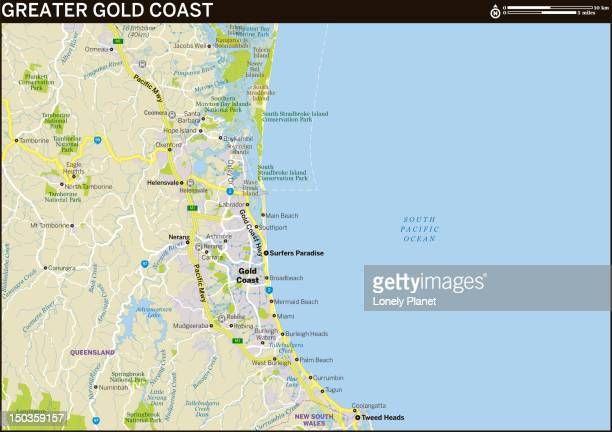 Map of Greater Gold Coast.