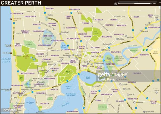 Map of Greater Perth.