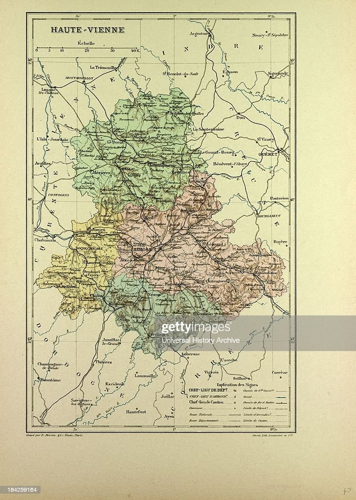 Map Of HauteVienne France Pictures Getty Images