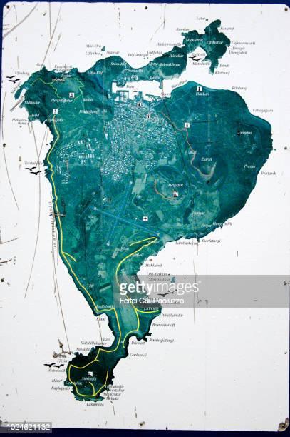 Map of Heimaey, Westman Islands, Iceland