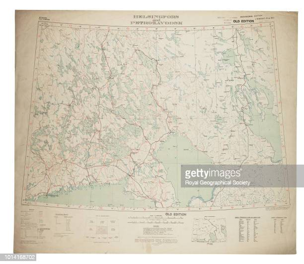 Map of Helsinki and surrounding area including border with Russia Sheet North P35 36 'Helsingfors and Petrolzavodsk' from a series of maps compiled...