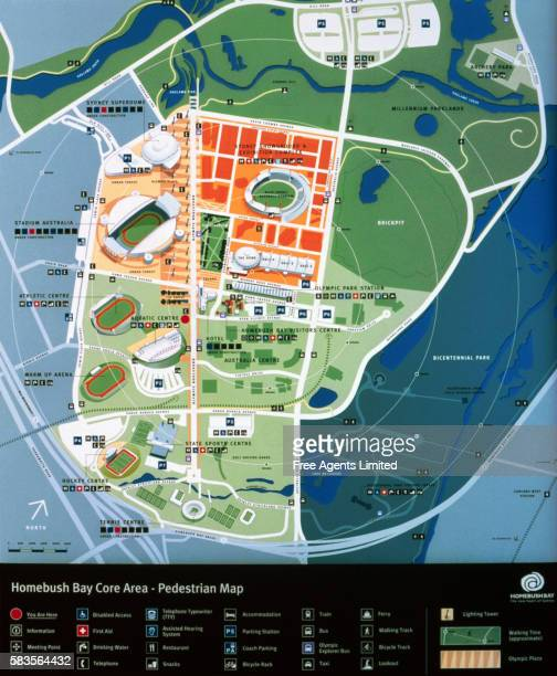 Map of Homebush Bay Olympic Site