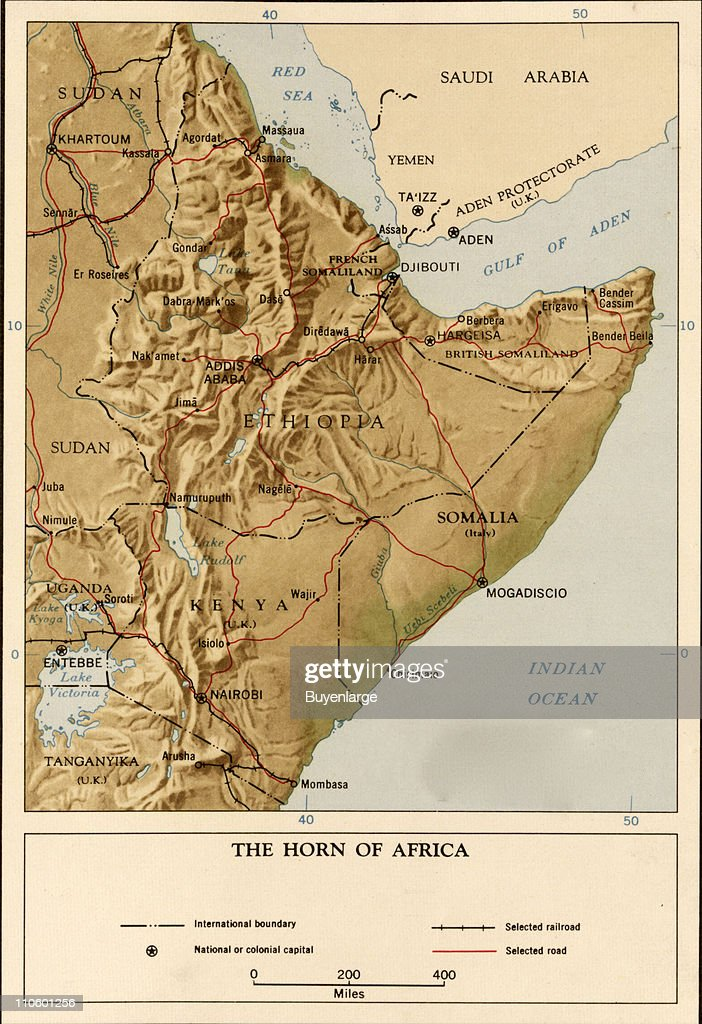 Map Of Horn of Africa : Nyhetsfoto