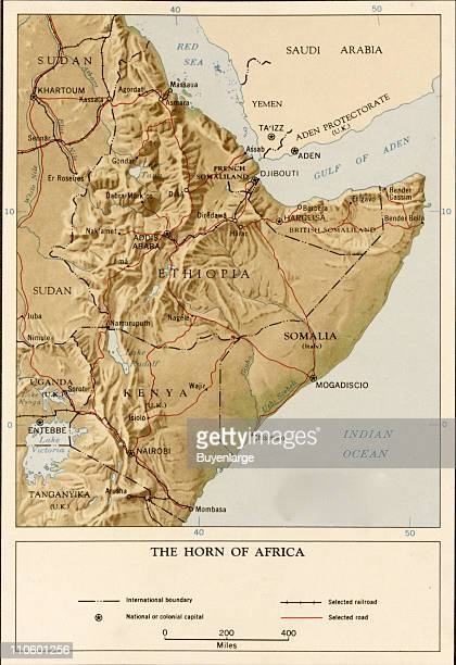 Map of Horn of Africa 1969 Illustration by CIA