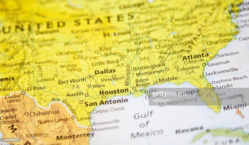 Karte Von Houston Stock-Foto | Getty Images
