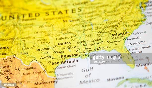 Map of Houston area