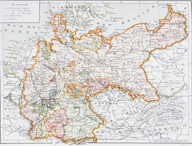 Map of imperial germany prior to the first world war pictures map of imperial germany prior to the first world war gumiabroncs Gallery