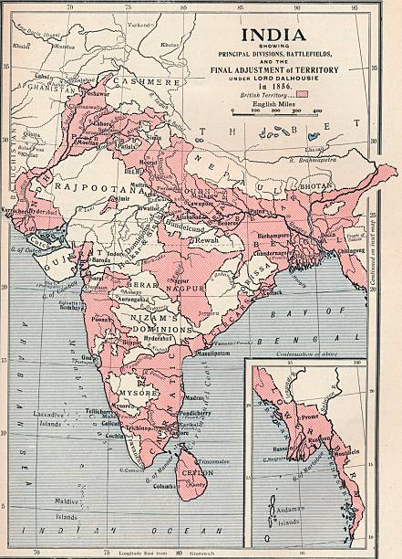 Map of india in 1856 1906 pictures getty images map of india in 1856 1906 gumiabroncs Choice Image