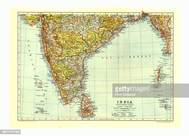 Map of India South circa 1910 [Encyclopaedia Britannica Co] Artist Johann Georg Justus Perthes