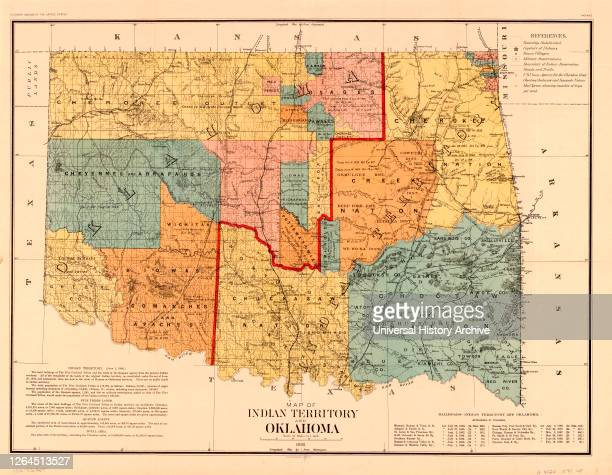 Map of Indian Territory and Oklahoma, U.S. Bureau of the Census, 1890.