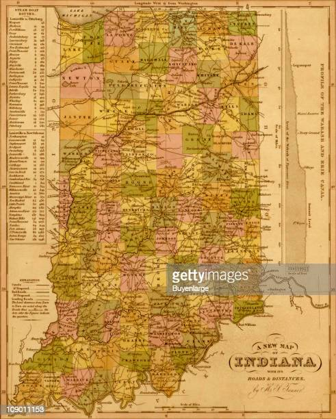 A map of Indiana 1844