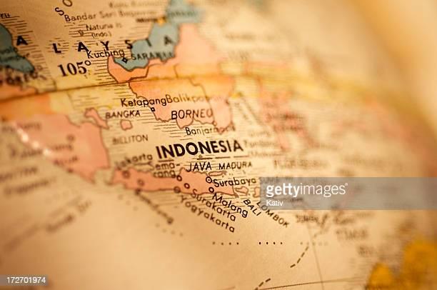 mappa di indonesia - indonesia foto e immagini stock