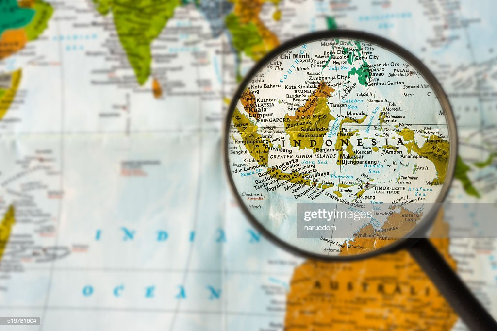 Map of Indonesia : Stock Photo