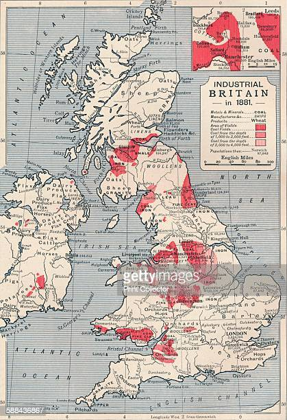 Map of industrial Britain in 1881 1906 From Cassell's Illustrated History of England Vol VII
