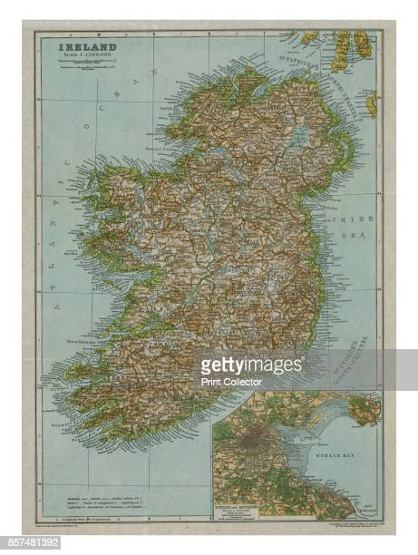 Map of Ireland circa 1910 [Encyclopaedia Britannica Co] Artist Gull Engraving Company