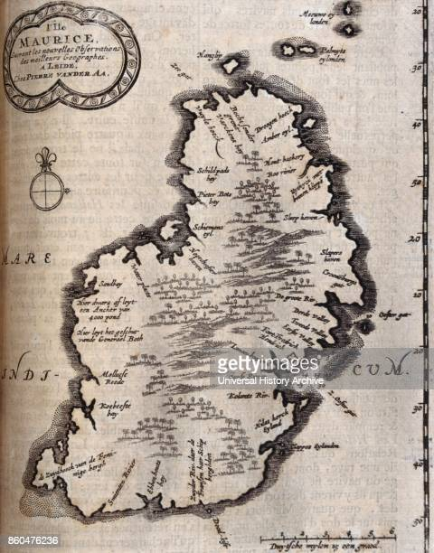 Map of Ireland from voyages made to Persia and India 1727 by Johan Albrecht de Mandelslo seventeenthcentury German adventurer who wrote about his...