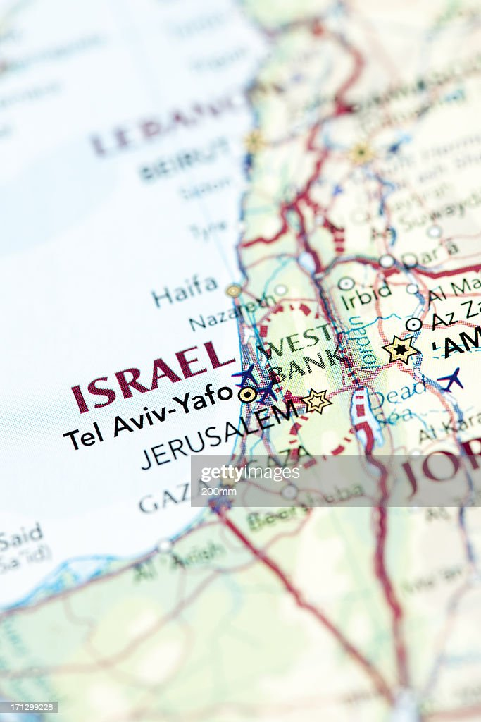 Map of Israel : Stock Photo
