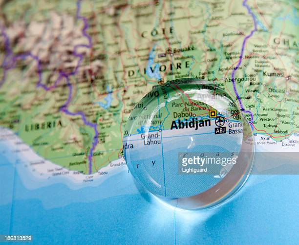 map of ivory coast area - côte d'ivoire stock pictures, royalty-free photos & images