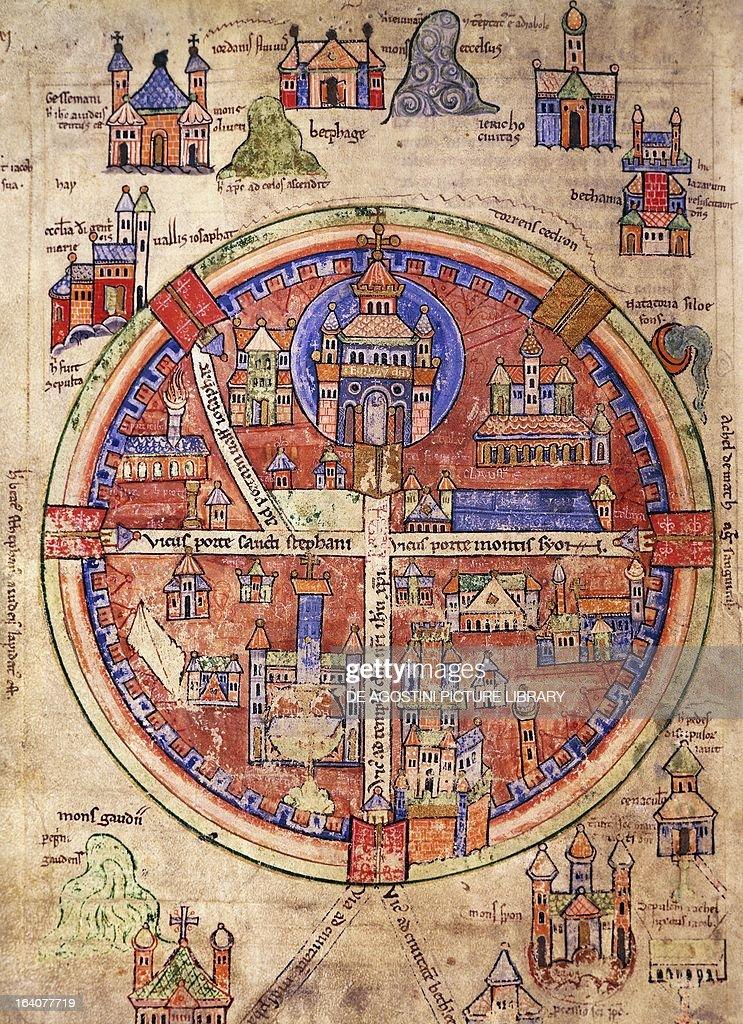 Map of Jerusalem... : Fotografía de noticias