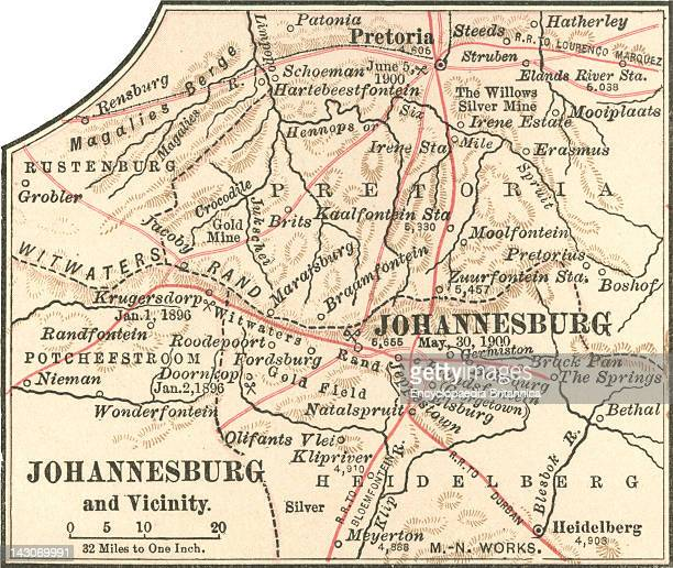 Map Of Johannesburg Map Of Johannesburg South Africa Circa 1902 From The 10Th Edition Of Encyclopaedia Britannica