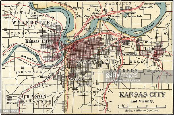 Map Of Kansas City Map Of Kansas City Kansas Circa 1900 From The 10Th Edition Of Encyclopaedia Britannica