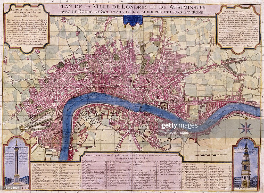 Map of London 1727 Artist Anon Pictures Getty Images