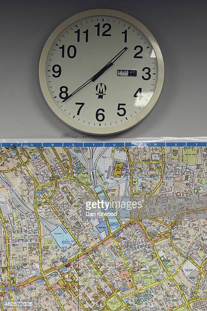 A map of London hangs on a wall during a 'Knowledge' lesson at the West London Knowledge School on December 03 2014 in London England London's Black...