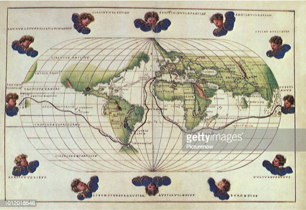 Map of Magellan's Route 1544 Agnese Battista
