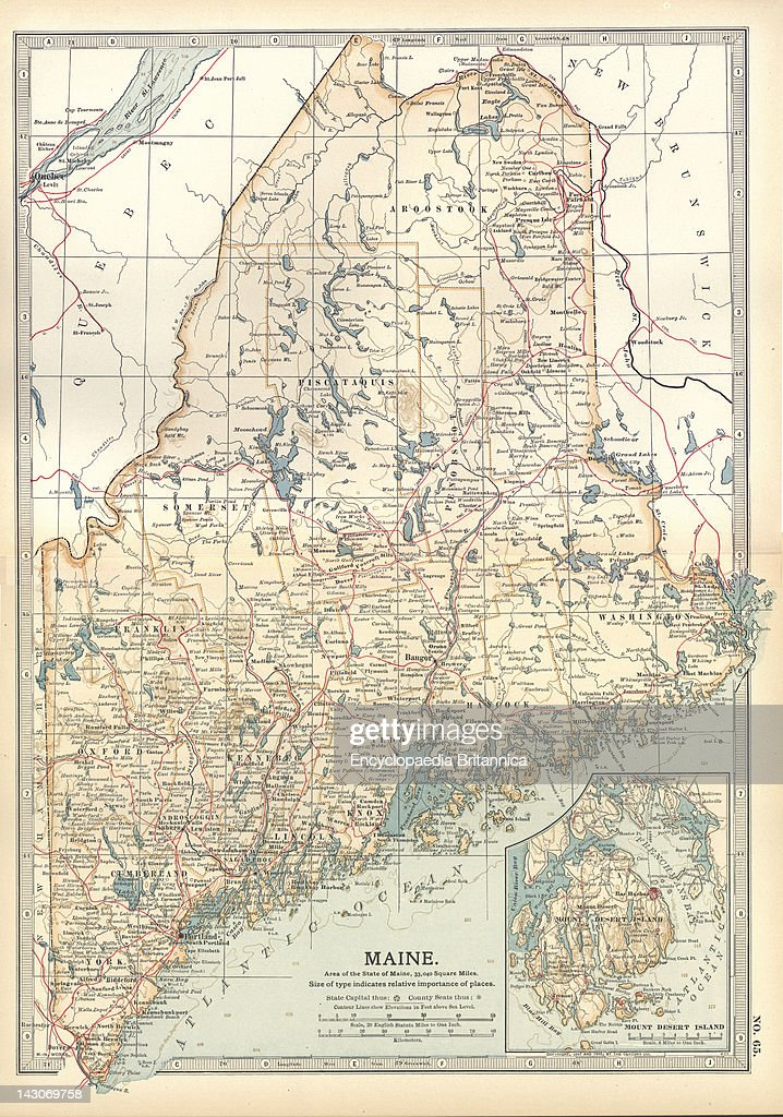 Map Of Maine, Map Of Maine, United States, With Inset Map Of ...
