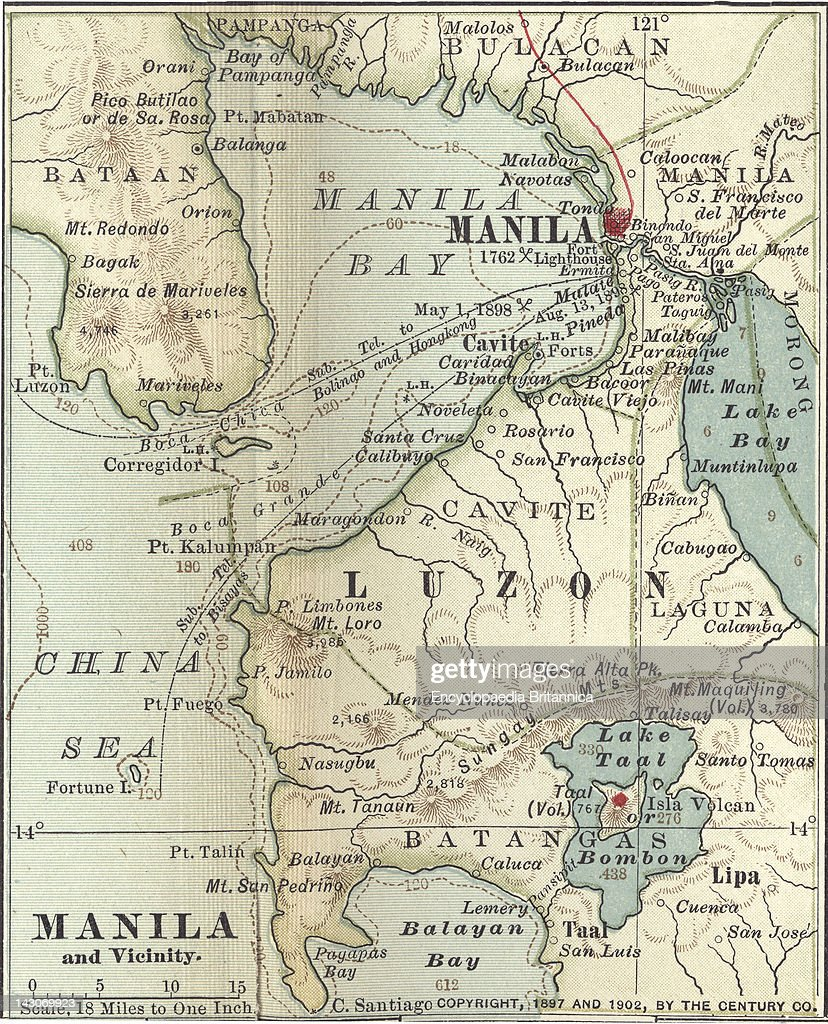 Map Of Manila Pictures Getty Images