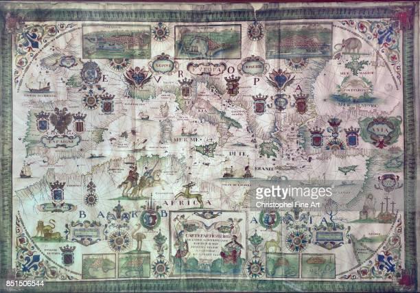 Map of Mediterranean Region in the 17th Century 1664Paris Musee De La Marine