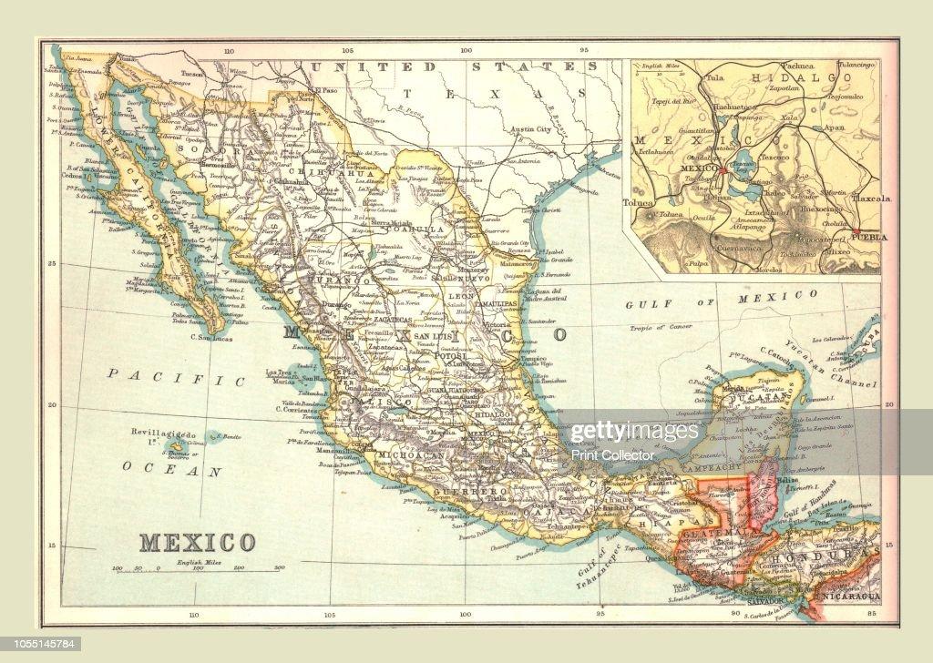 Honduras Mexico Map.Map Of Mexico 1902 Showing Guatemala And British Honduras With