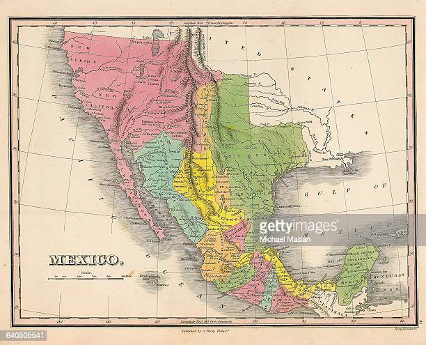 A map of Mexico created in 1826 includes the regions of New Albion New California Old California Intendency of San Louis Potosi and other areas