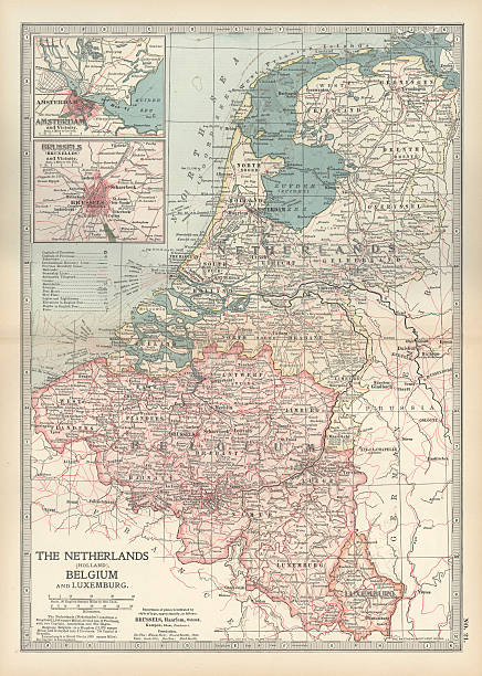 Map Of Netherlands And Belgium Pictures | Getty Images