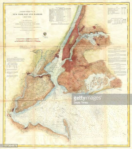 S Map of New York City Bay and Harbor