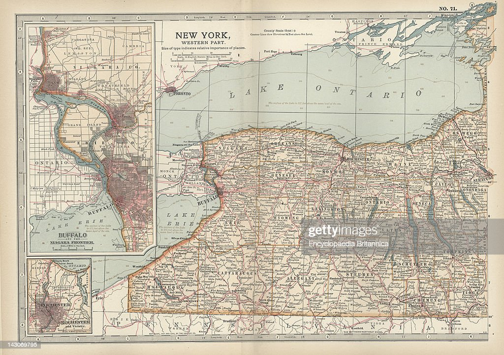 Western New York State Map.Map Of New York State Map Of Western New York State With Inset Map