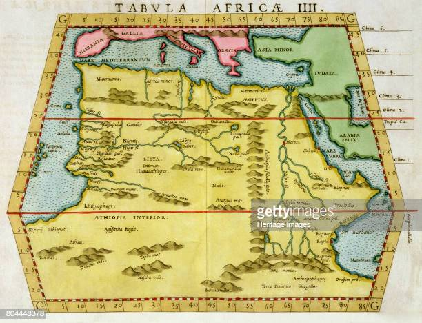 Map of North Africa c1580s Artist Unknown