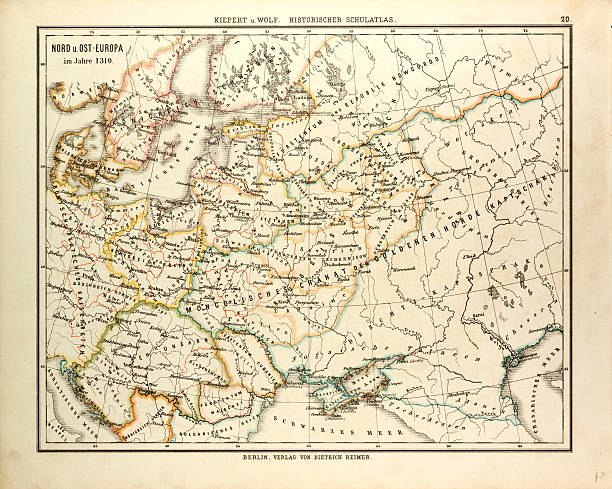 map of north east europe in 1310