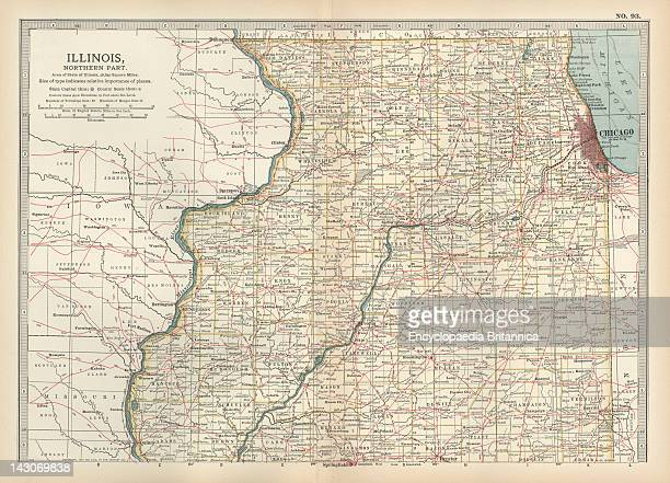 Map Of Northern Illinois Map Of The Northern Part Of Illinois United States Circa 1902 From The 10Th Edition Of Encyclopaedia Britannica