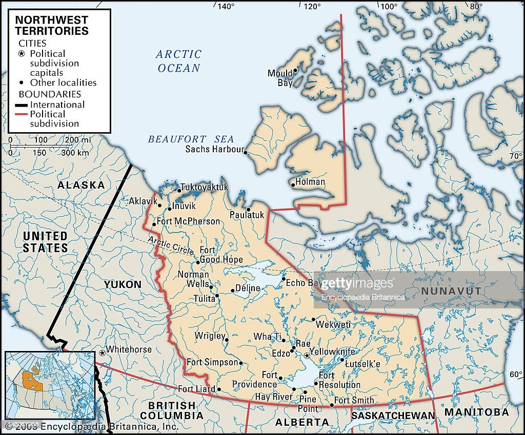 Map Of Northwest Territories Pictures | Getty Images