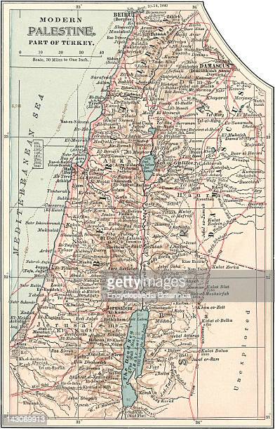 Map Of Palestine Part Of Turkey Map Of Palestine Circa 1902 From The 10Th Edition Of Encyclopaedia Britannica
